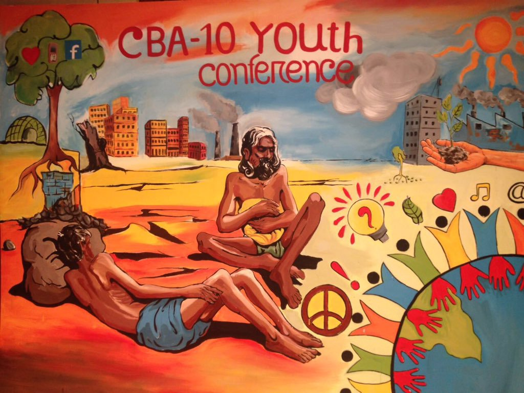 "Youth speak at #CBA10 closing session - ""We are the new generation and we should start the revolution"". #cba10youth https://t.co/UErArKCOLw"