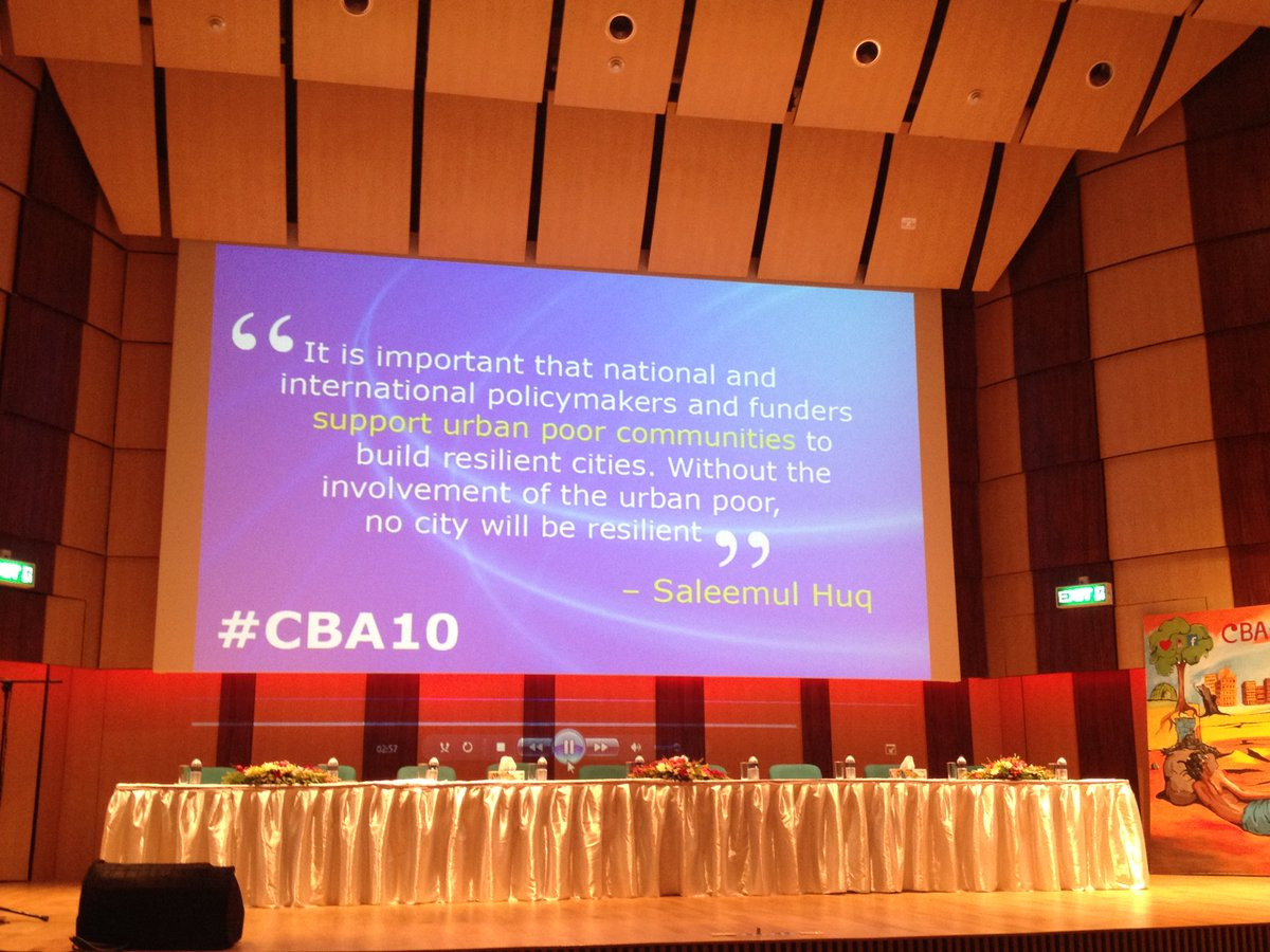 #CBA10 closing session - enhancing urban community resilience. Thank you to the organisers @IIED, @ICCCAD and BCAS. https://t.co/1SGNH11yQR