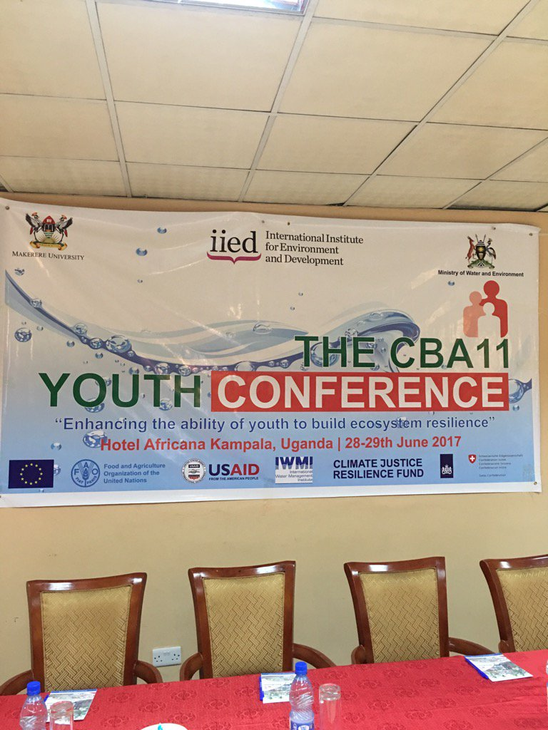 About to start the #cba11 youth conference in Kampala with 150 youth https://t.co/TPmID6fZwq