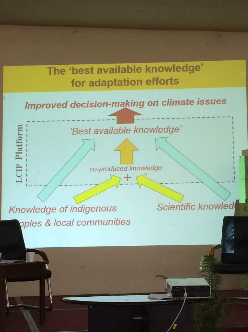 Douglas Nakashima @UNESCO highlights how to have the best available knowledge we must include the knowledge of local communities #CBA11 https://t.co/XcF17CDxQi
