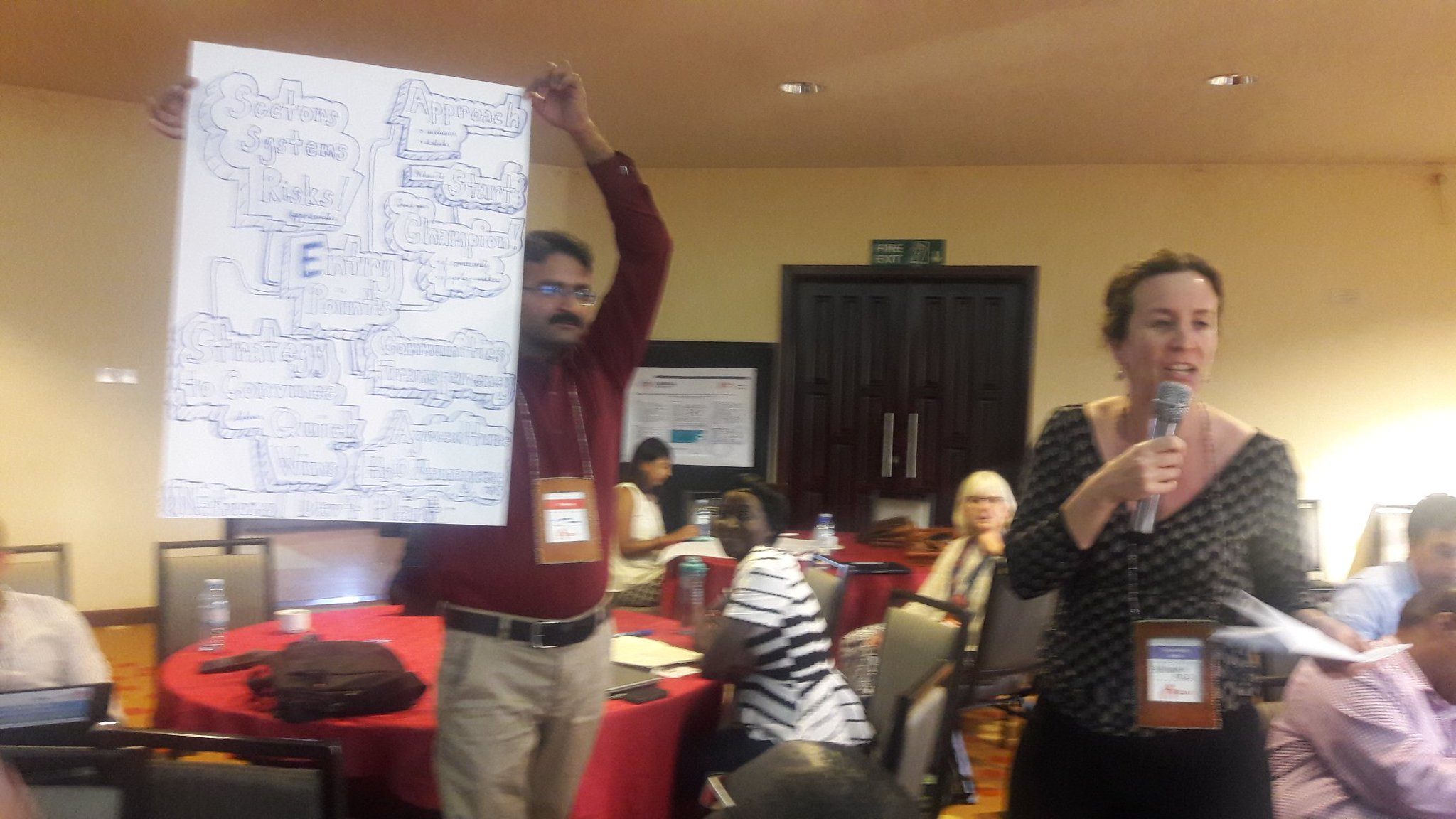 #CBA11 Using art @Irish_Aid session to explain entry points for mainstreaming climate change into planning processes @IIED  @NAP_Central https://t.co/GzLkS4RxEx