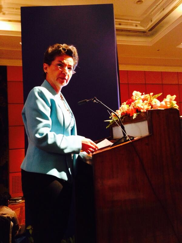 Christiana Figueres from UNFCCC welcomes the Kathmandu Declaration at CBA8 #CBA8 http://t.co/InXVQfpyuH