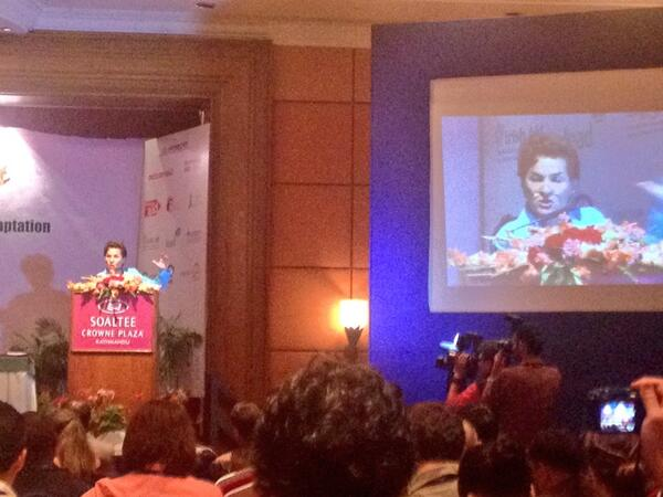 """Let's not forget #mitigation while adapting to climate change"". A very inspiring speech by @CFigueres at #CBA8 http://t.co/uqoSI4VtKv"