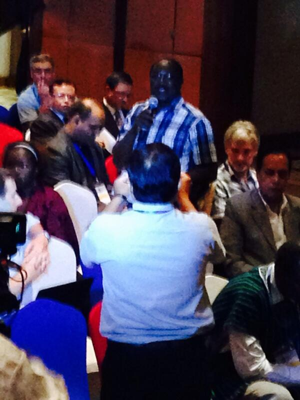 Charles Nyandiga from GEF/UNDP/SGP making an Action Pledge at CBA8 #CBA8 http://t.co/PdqqOKY9h2