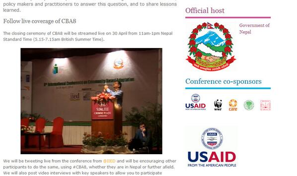 The live stream of the #CBA8 closing ceremony is still available via http://t.co/RkopRQTTcq http://t.co/2Yz6kwfckv