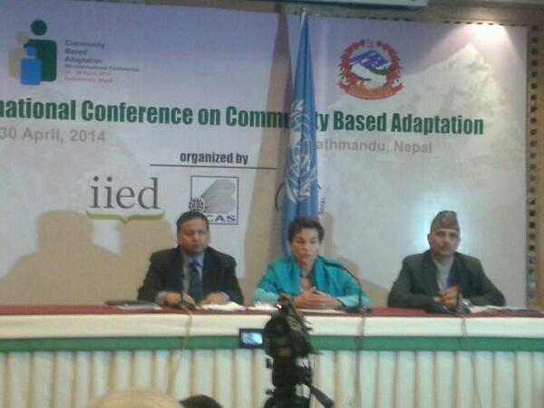 Press Meet after closing session of #CBA8 with Executive Secretary of UNFCCC, Christiana Figueres http://t.co/AuRZJo3G3Q