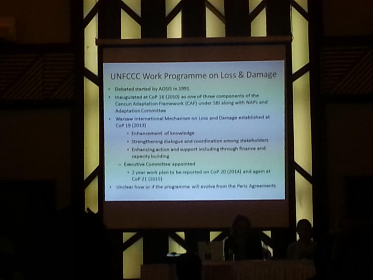 Another slide explaining #loss and #damage in the @UNFCCC  process. @CANSouthAsia #CBA9 http://t.co/cmza7GDfhy