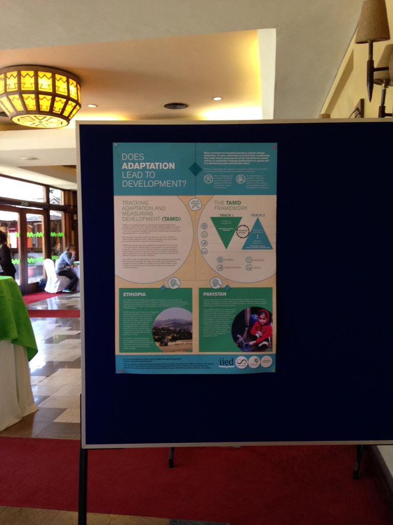 Thinking about posters for communicating research. Lots of good ones at #cba9. Discussion at @CollabAdapt later @iied http://t.co/NoXPzTOp7E