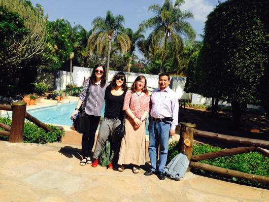 With #CBA9 advance team: Amy, Teresa and Beth at Safari Park Hotel, Nairobi @ICCCAD http://t.co/h6GxJIwr8d