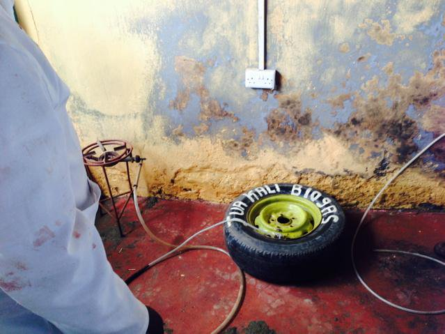 Biogas in a tyre! #CBA9 http://t.co/S7WVO688cE