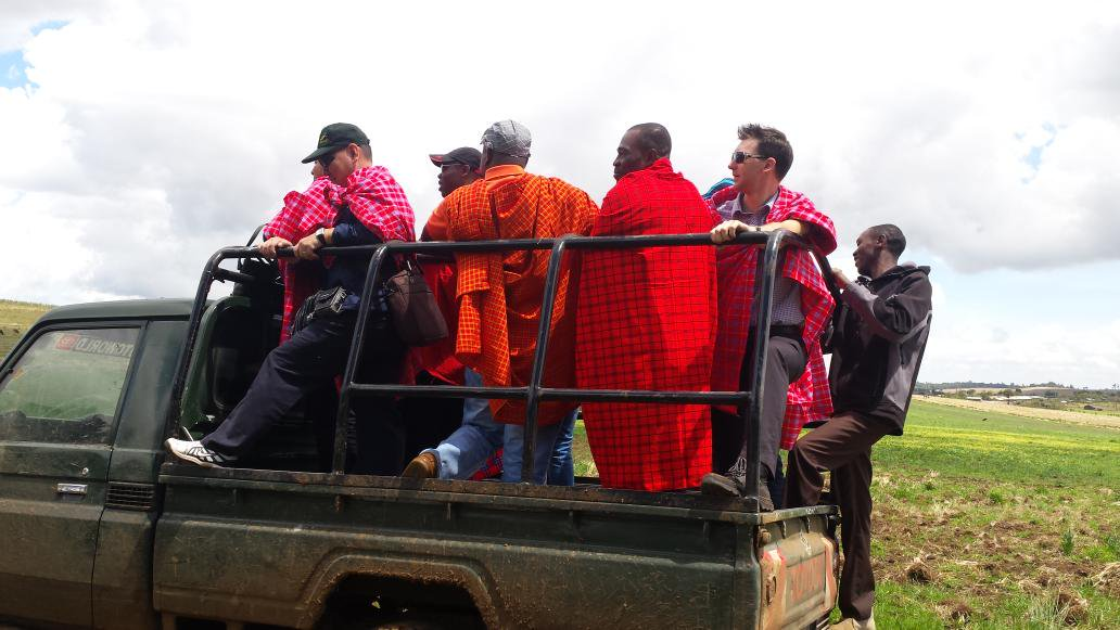 Initiated into the maasai on day 2 of #CBA9 field visit http://t.co/G7kIYV14Th