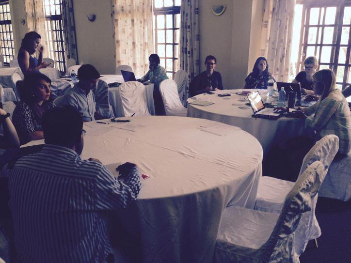 Volunteers for #CBA9 getting briefed before registration http://t.co/YnCjzO2EH9