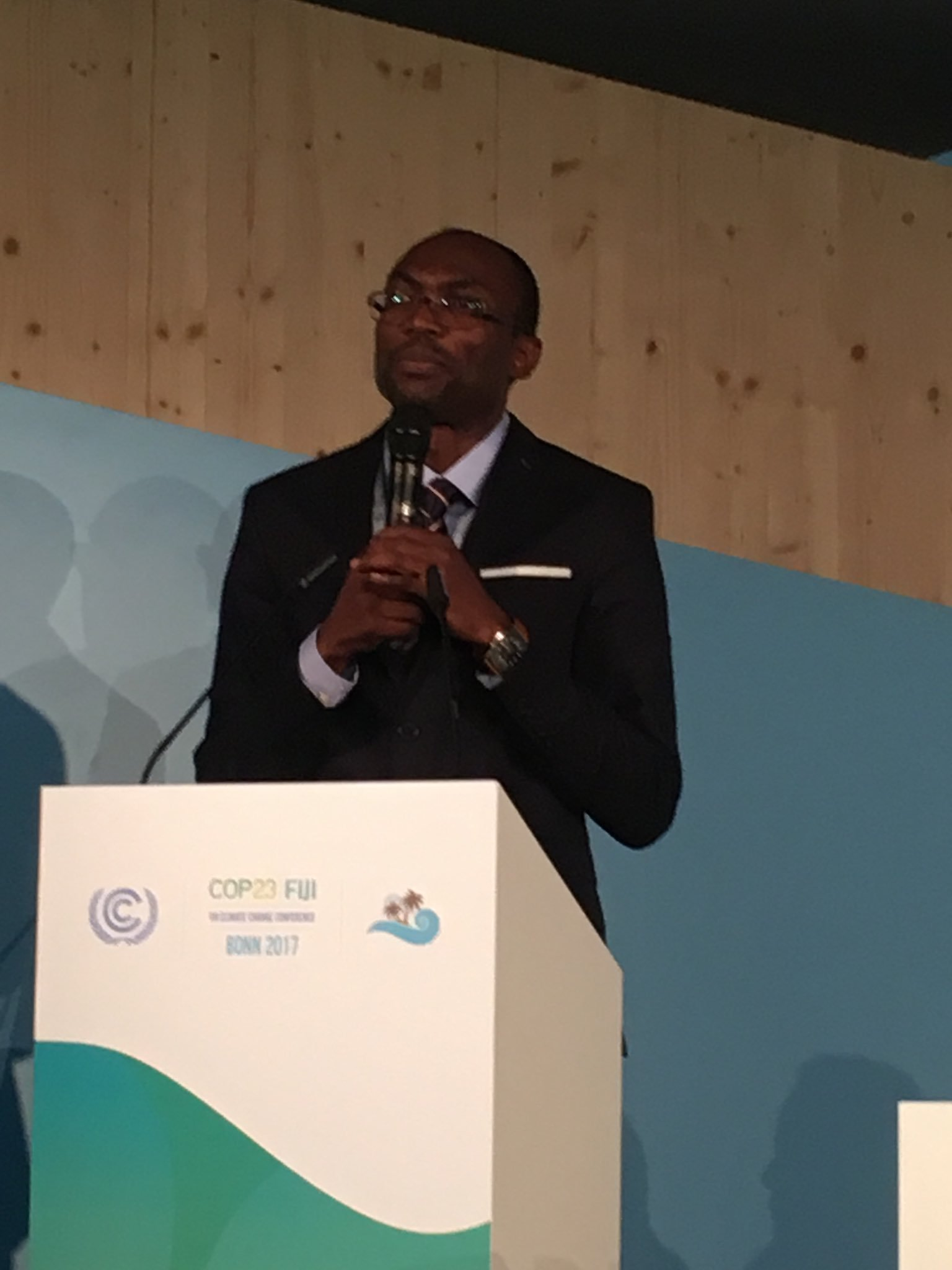 Pa Ousmane says @GCF looking to get funds to local level through enhanced direct access & improving systems 2get #moneywhereitmatters @cop23 https://t.co/Sj0ZlxHe7j