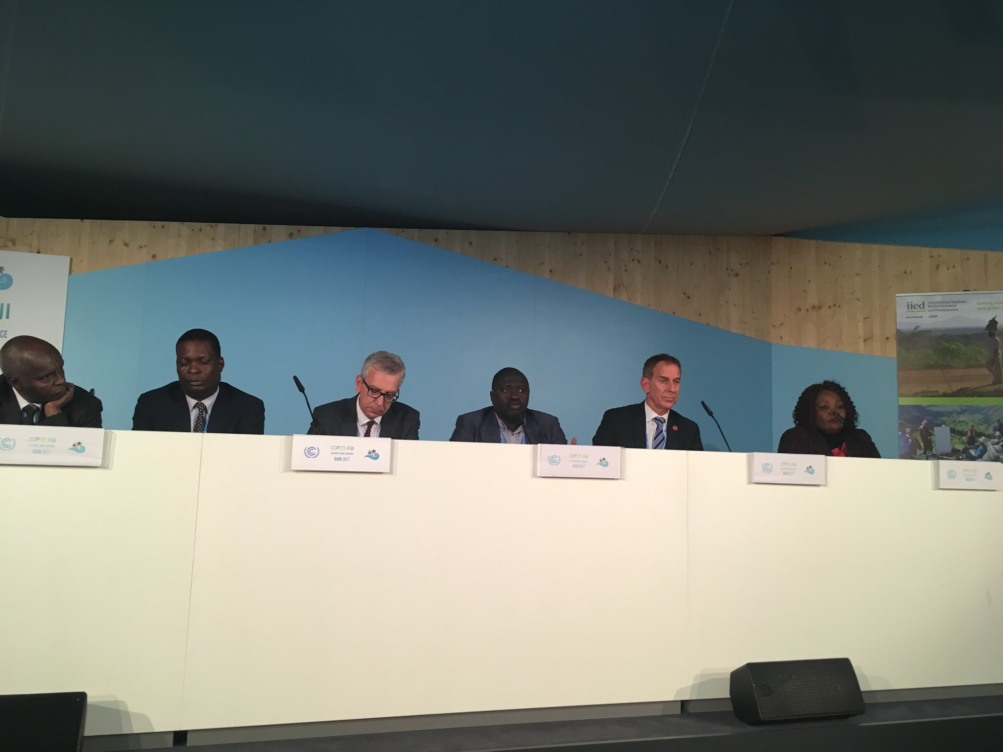 Minister Gambia calls for getting climate finance to front lines in LDCs. And support for building the capacity for local govts to work with communities. #cop23 #LDCs #MoneyWhereItMatters #IIED #AdaConsortium https://t.co/CCCHou89U2