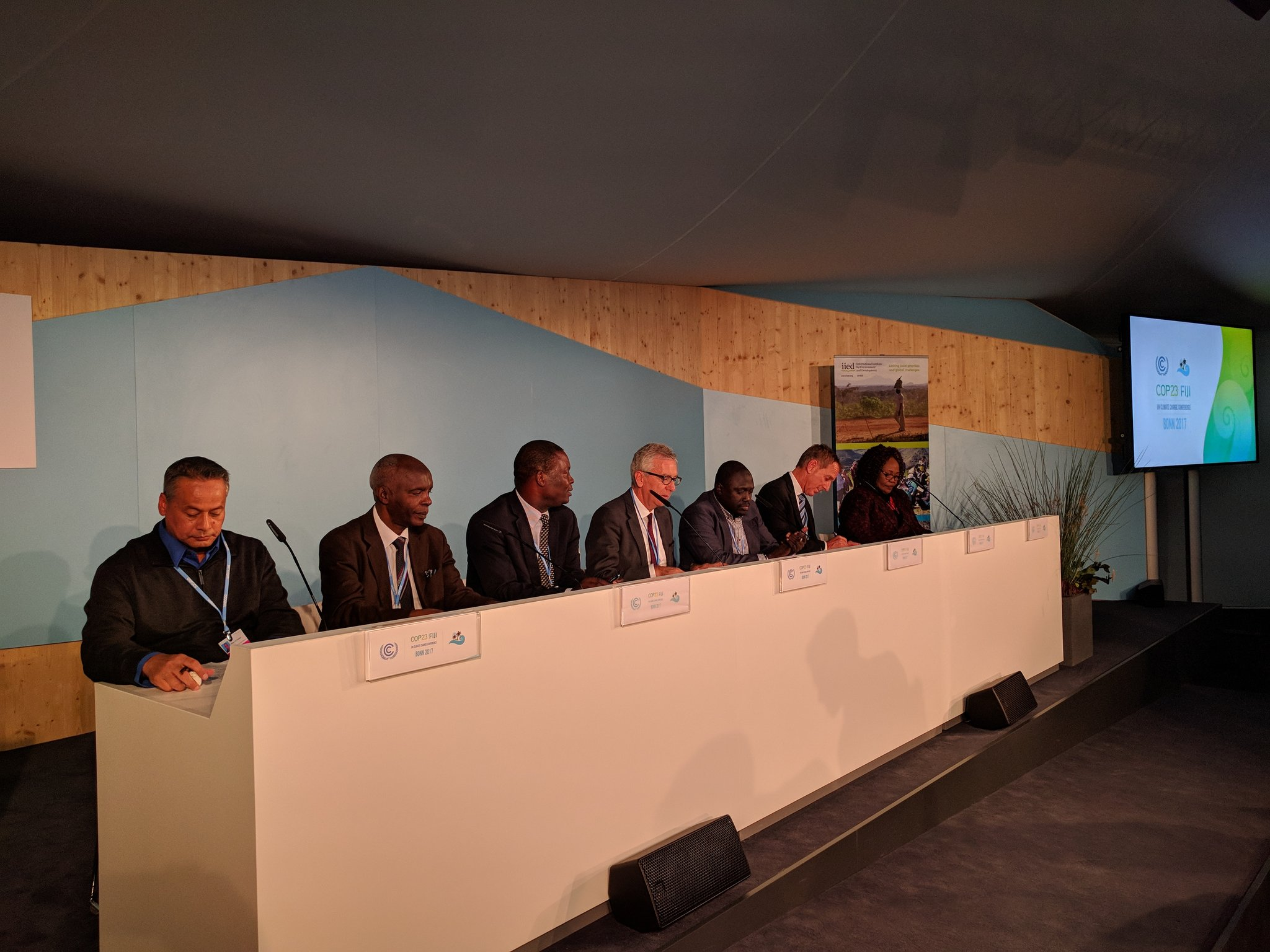 Kicking off the IIED and @both_ends #COP23 side event now. Minister from the Gambia giving the intro now. https://t.co/OCy3D8vKhT