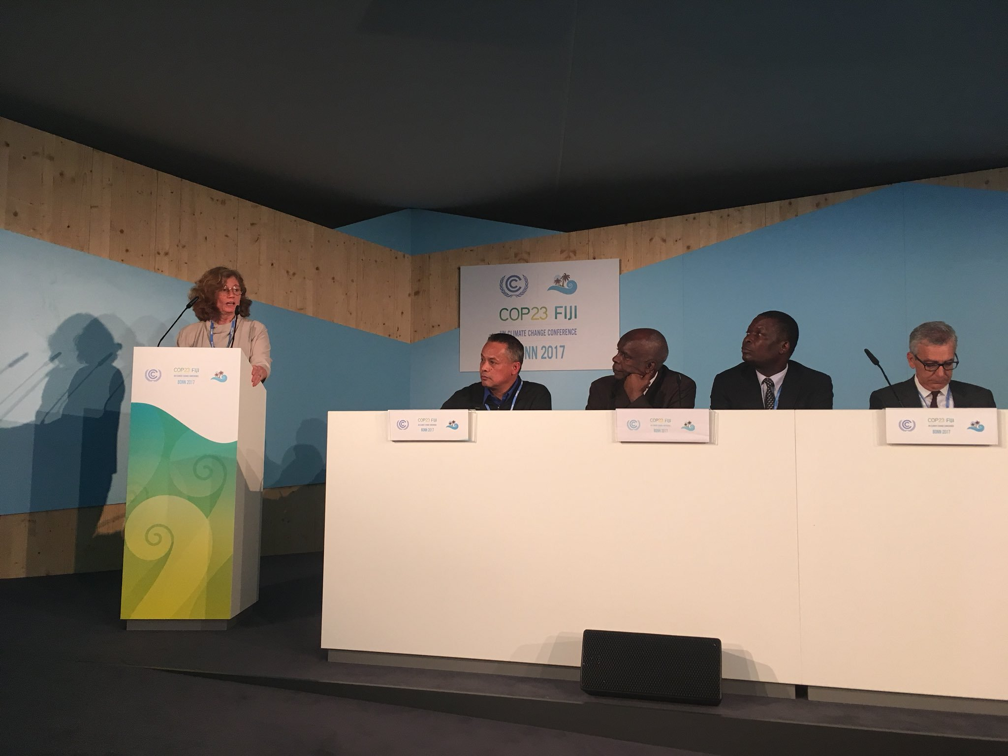 Swedish State Secretary Eva Svedling notes that adaptation is underfunded and challenge to reach the poorest communities. National action important to protect communities but meaningful action requires local knowledge to enable effective investments #MoneyWhereItMatters #COP23 https://t.co/SaUo461ktr