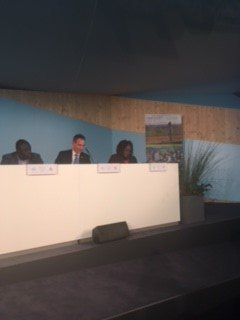 "Still psyched thanks to @clareshakya @COP23 session - Delivering Money Where It Matters: Effective climate action through predictable local climate finance - linked African-US sub-national #climateleaders ""We are with our US brothers in fighting #climatechange"" @BobWieckowskiCA https://t.co/0NaToSCISA"