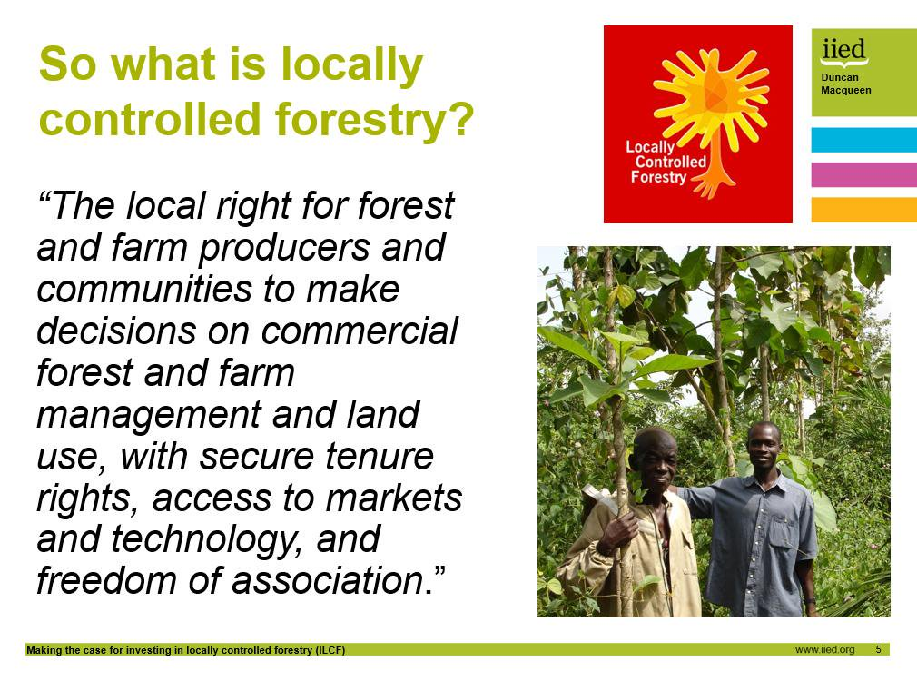 What makes locally controlled #forestry? Secure tenure rights, access to markets & tech, + freedom of association http://t.co/0ygDd61nFn