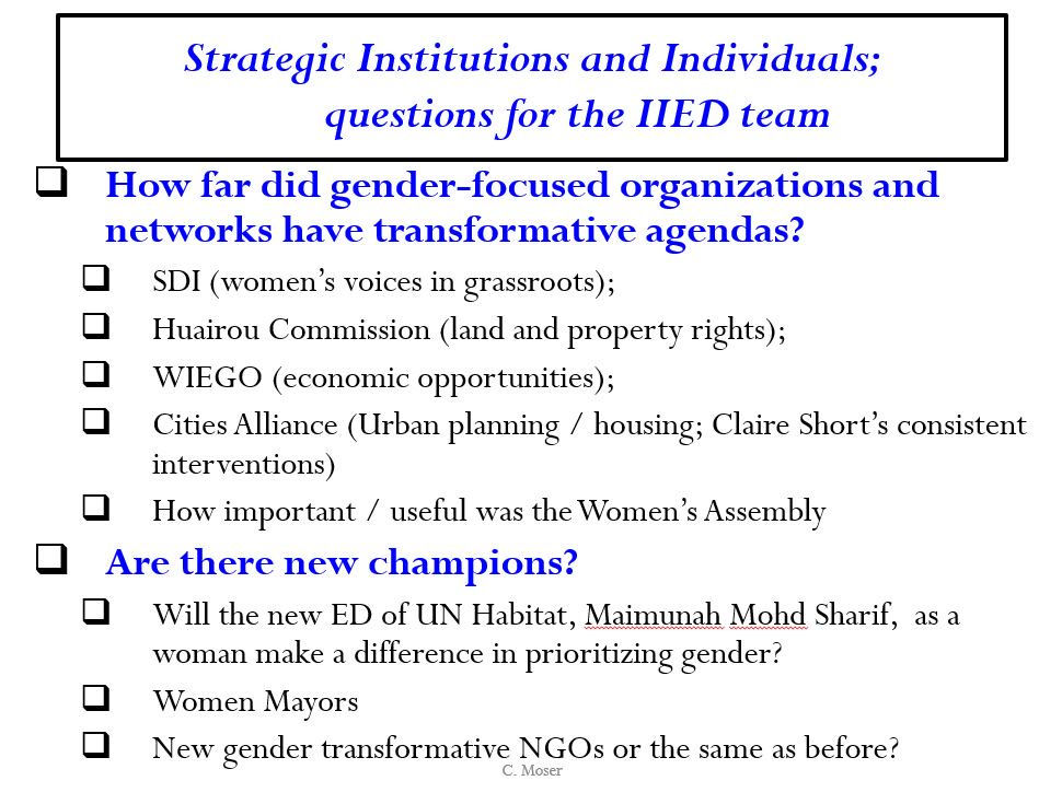 Some questions: How far did #gender networks and orgs have tranformative agendas at #WUF9? How useful is a women's assembly? Who are the champions? https://t.co/UDZmWAKe2B