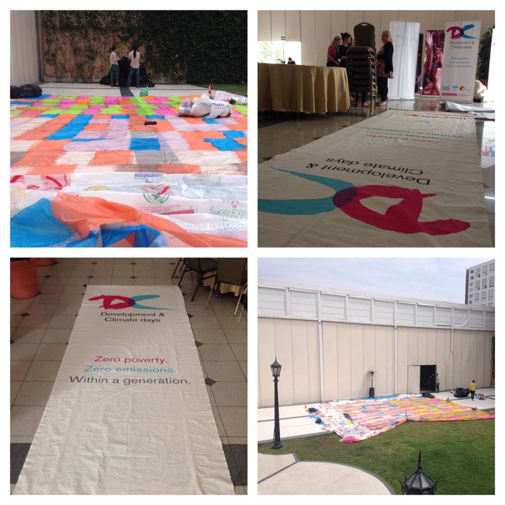 Preparations are underway 4 our D&C Days weekend event with @RCClimate @cdknetwork @dev_progress @odi_climate #COP20 http://t.co/6eERwJkeRZ