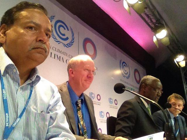 On @UNEP press conference on Adaptation Gap Report @LimaCop20 http://t.co/zJOkXPhBQf