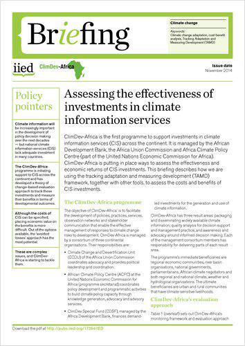 DOWNLOAD: Assessing the effectiveness of investments in climate information services -> http://t.co/778wHNKOtF #COP20 http://t.co/YwZcwKHo8L