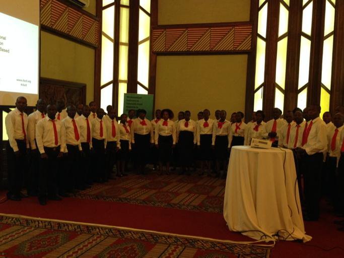 Nairobi Choir singing as guests take their seats for #CBA9 opening session http://t.co/Fdov3qnejV