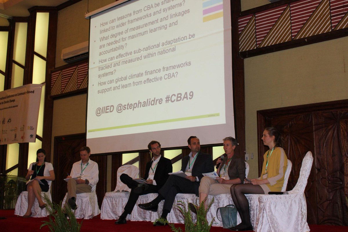 PHOTO @Susannahfisher (left) leads the #CBA9 plenary session on what it really means for communities to be resilient? http://t.co/82BnEKZsL5
