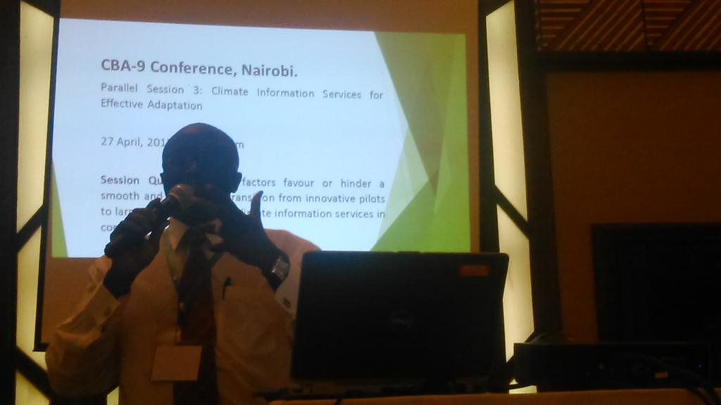 Evans Kituyi opens @CollabAdapt session at #CBA9 on climate information services for effective #adaptation @IDRC_CRDI http://t.co/Sh9Q4RE2Bk
