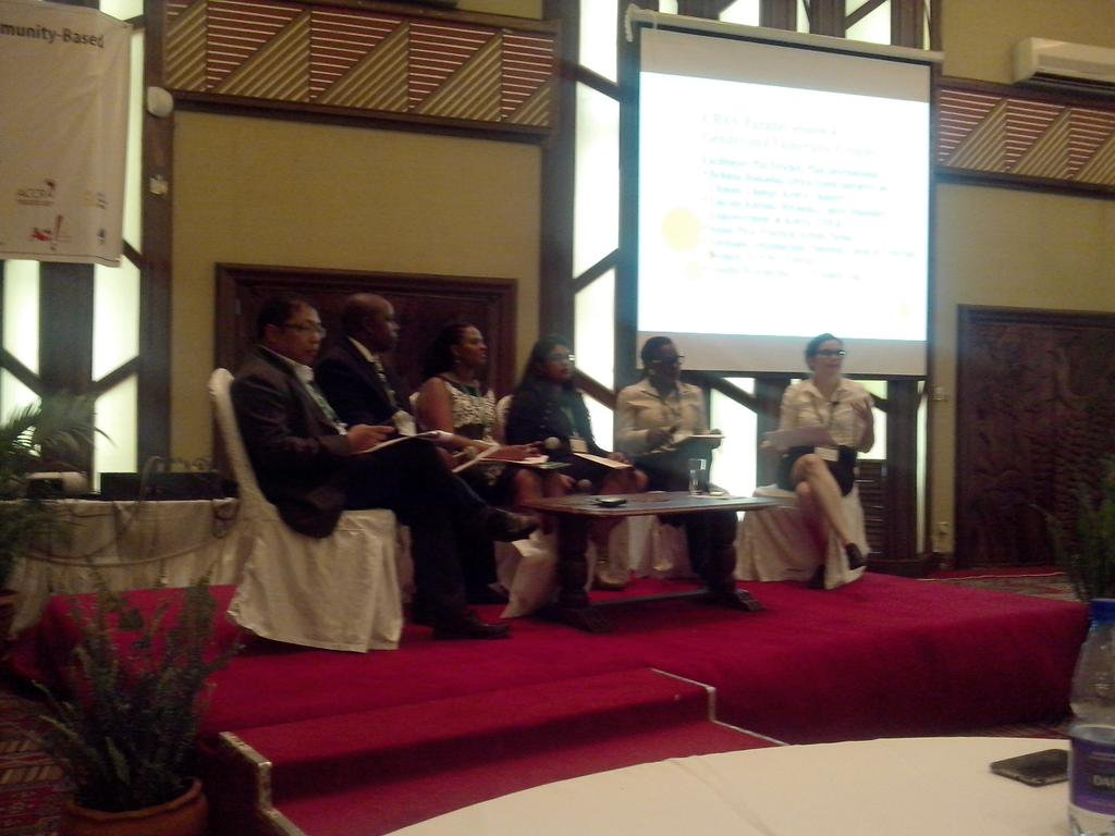 Good representation on panel at the gender & vulnerability session at #CBA9 hope this continues in all sessions http://t.co/Jr8AFv3Ize