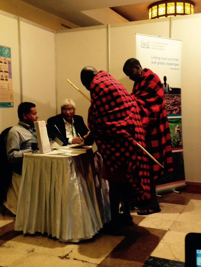 Great to see the local Maasai community visiting @SaleemulHuq at the @IIED exhibition stand #CBA9 http://t.co/Xa9QQZdeJ8