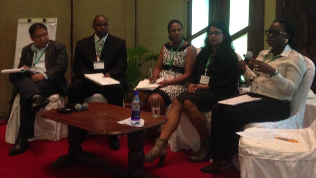 Excellent panelists & great interventions from the floor in session on gender, children & vulnerable groups at #CBA9 http://t.co/uAp0DfxzBq