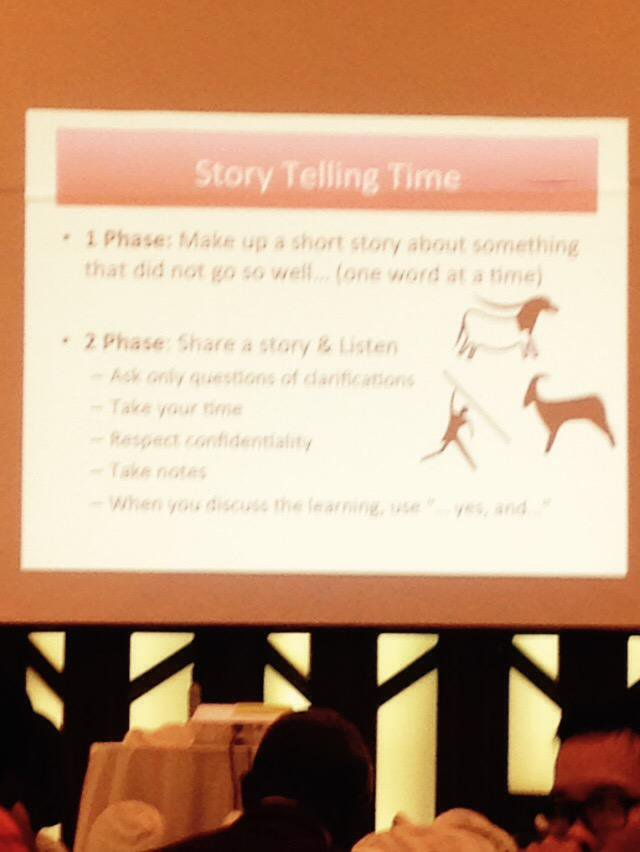 It's now story telling time at #CBA9! @RCClimate session encouraging participants to share and listen http://t.co/s6PI985ERt