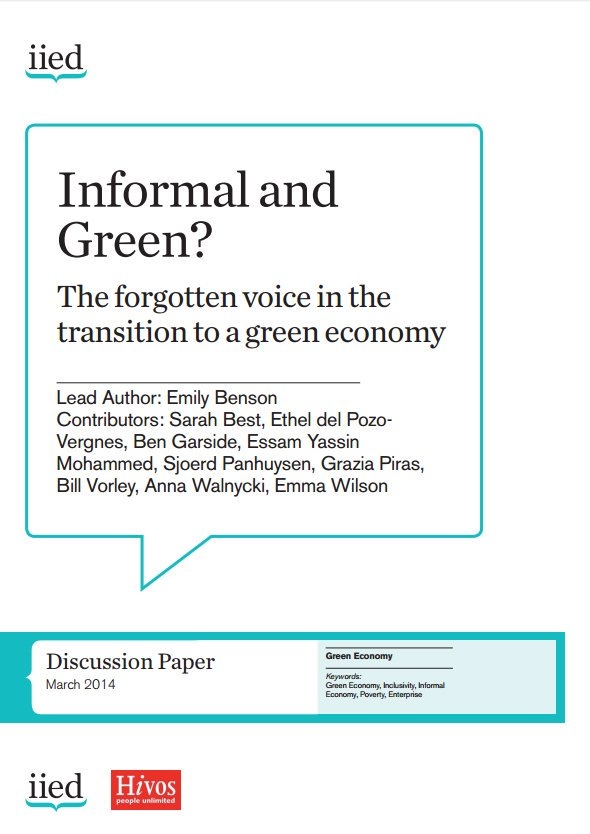 DOWNLOAD: Informal & green? The forgotten voice in #greeneconomy transition --> https://t.co/ICJaNePnzU #GlobalBPS https://t.co/5el5gstHfV