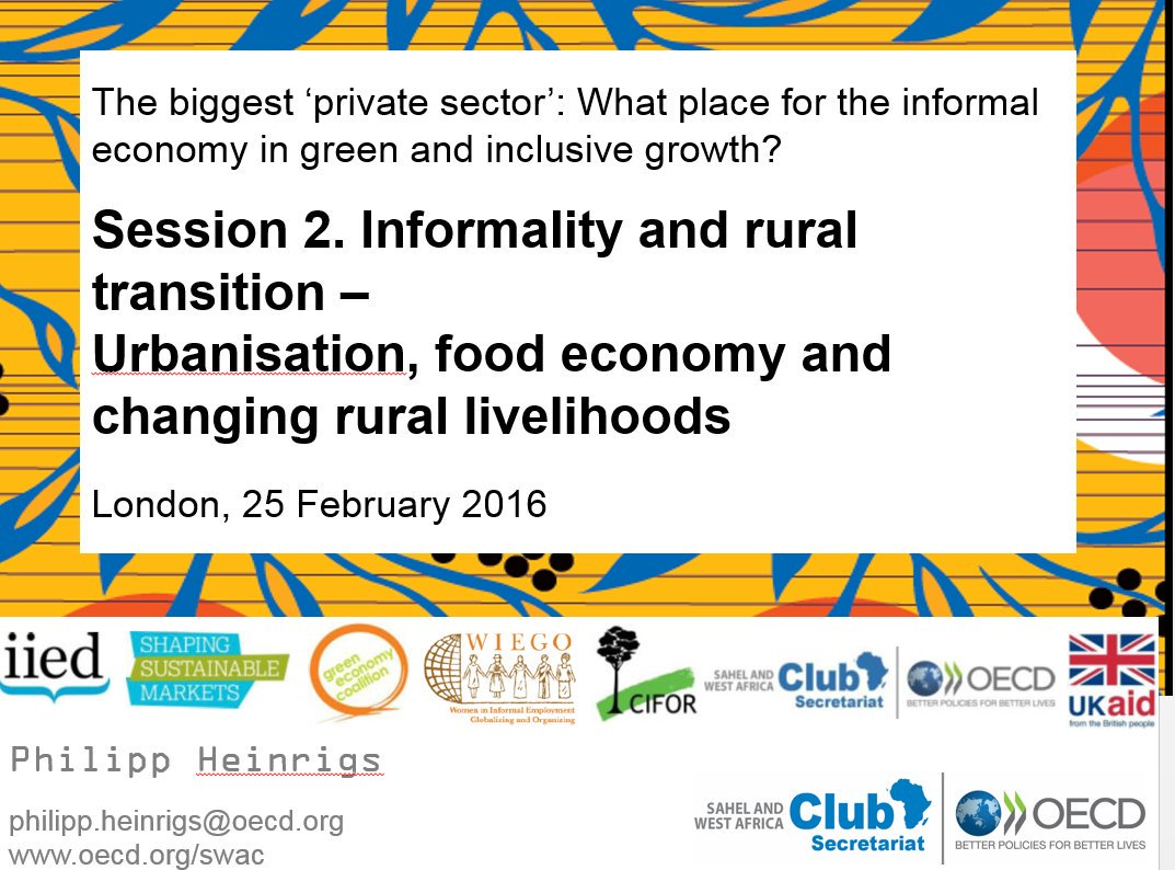 This next session looks at #informality and rural transition #GlobalBPS @SWAC_OECD https://t.co/xpJIMJzegs
