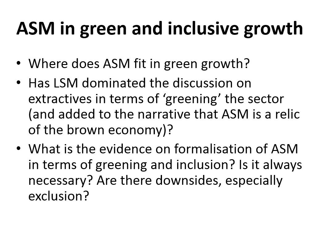 Where does ASM fit in green growth? asks Gavin Hilson @UniOfSurrey #GlobalBPS https://t.co/TxL9Mt1bfq