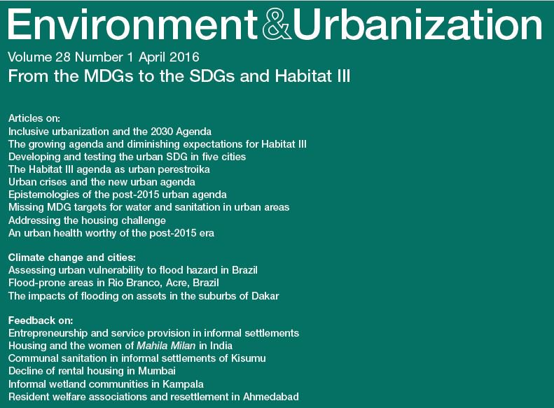 New issue of E and U on SDGs and Habitat III out and FREE TO ACCESS for the next week.  https://t.co/s9UADX7fin https://t.co/EWmFJoyFGZ